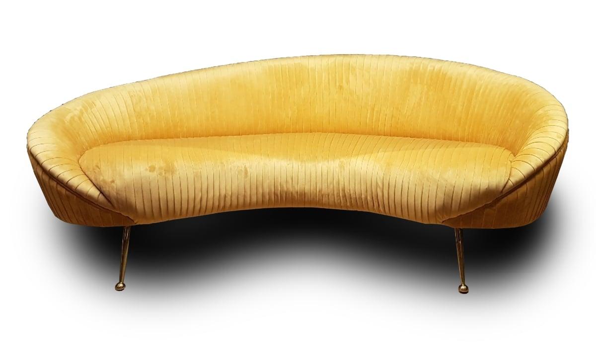 DOB 340 2.5er Sofa in Leder oder Samt