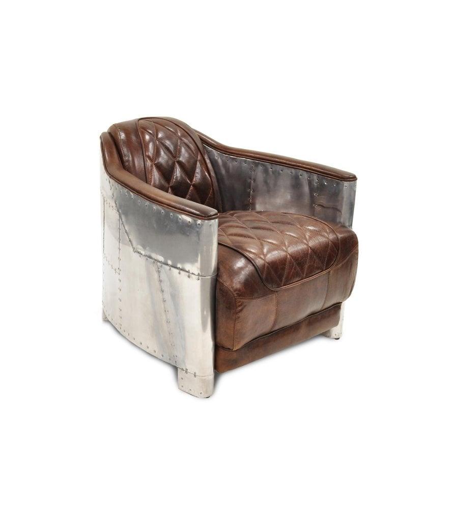 Bärtschiger AG Import und Grosshandel DOB 768 Pilot Chair Aluminium und Leder